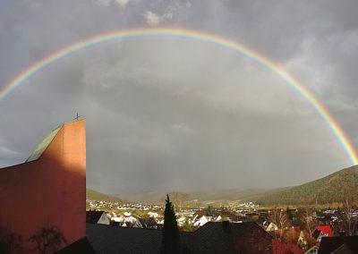 Regenbogen über Lohr